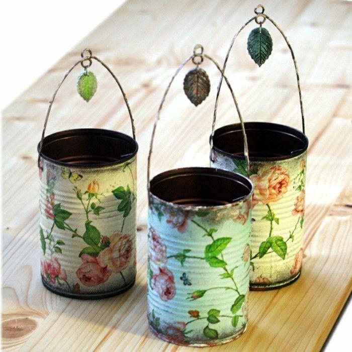 découpage fait sur des boîtes de conserve recyclées, suggestion charmante de cadeau de noel a faire soi meme