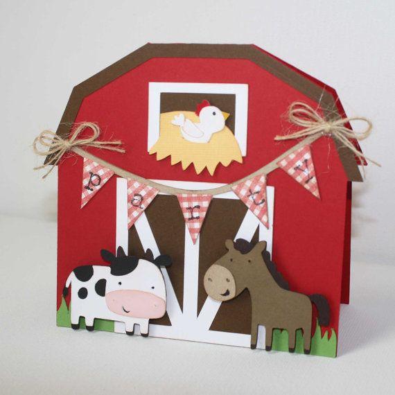 Invitaciones de cumpleaños de la granja / Set por JillyBearDesigns