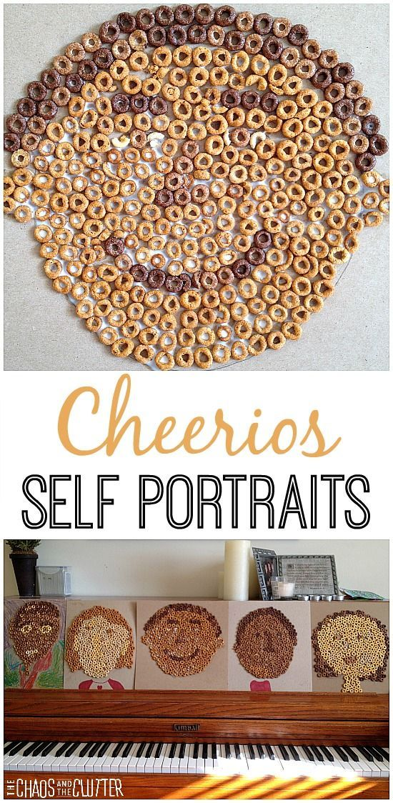 These Cheerios self portraits are such a unique way for kids to express who they are.
