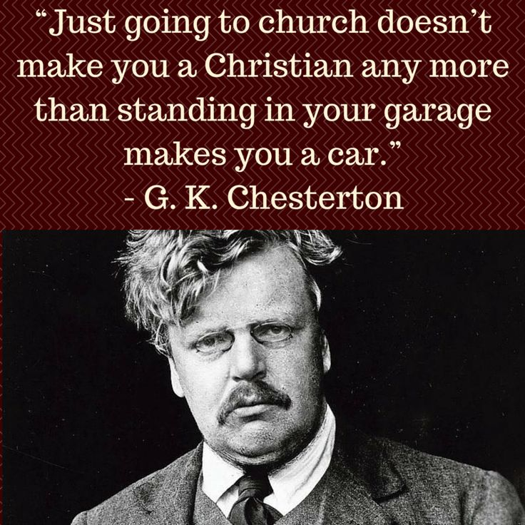 The very clever and witty truth of G. K. Chesterton.