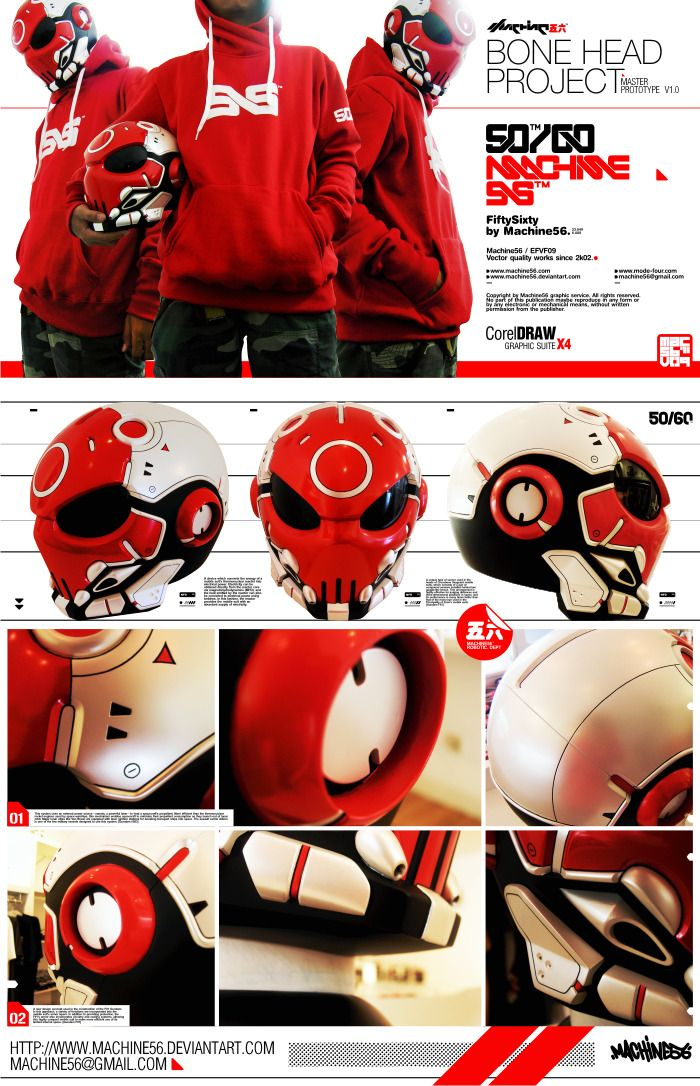 Bone Head Project Machine56 helmet