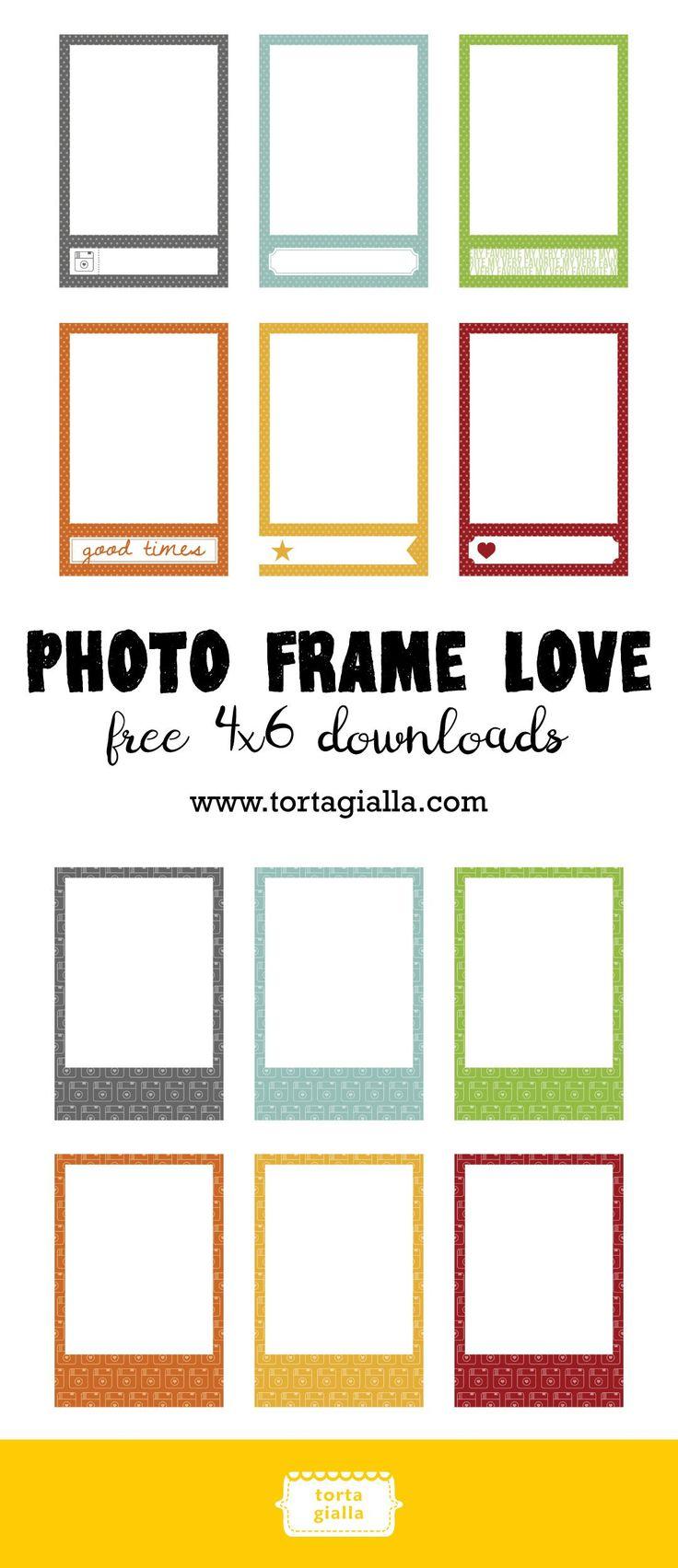 Free 4x6 Photo Frame Love Downloads Tortagialla Picture Frame Template Free Photo Frames Photo Frame