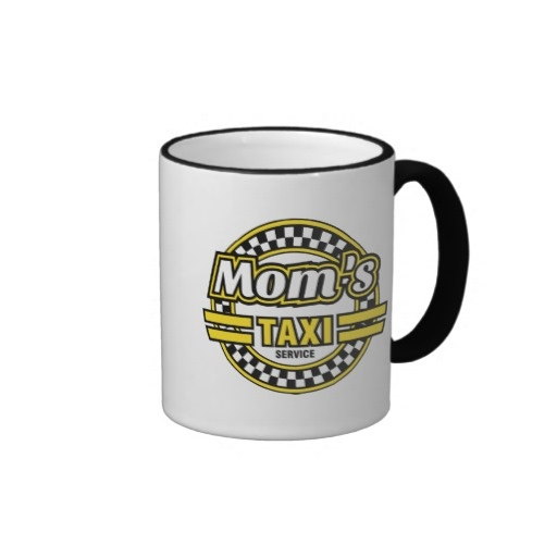 Mom's Taxi Service - A Mug for Busy Moms. Mom's Taxi Service operates day and night, and is just a phone call away. The logo looks great on this stylish mug and makes a great gift for any occasion. Whether its Christmas, a birthday or Mothers day your Mom will appreciate the sentiment. Say thanks to the busiest woman you know!
