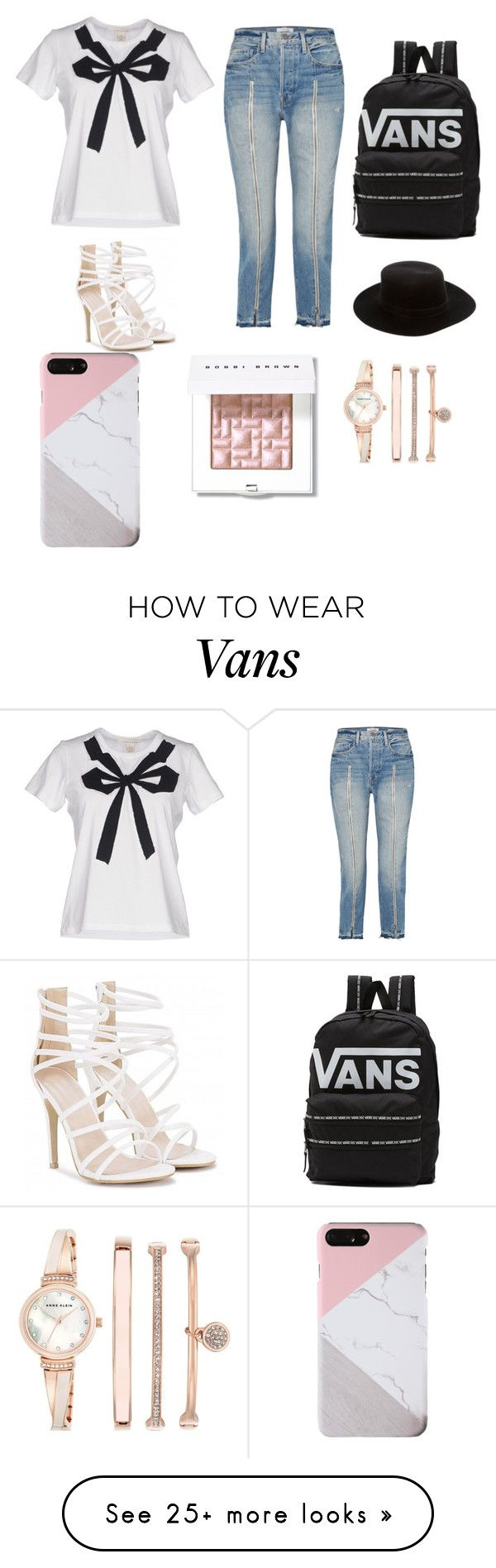 """""""Showing The Best! First Design!❤"""" by sabinacarpenter on Polyvore featuring Marc by Marc Jacobs, Frame, Vans, Janessa Leone, Bobbi Brown Cosmetics and Anne Klein"""
