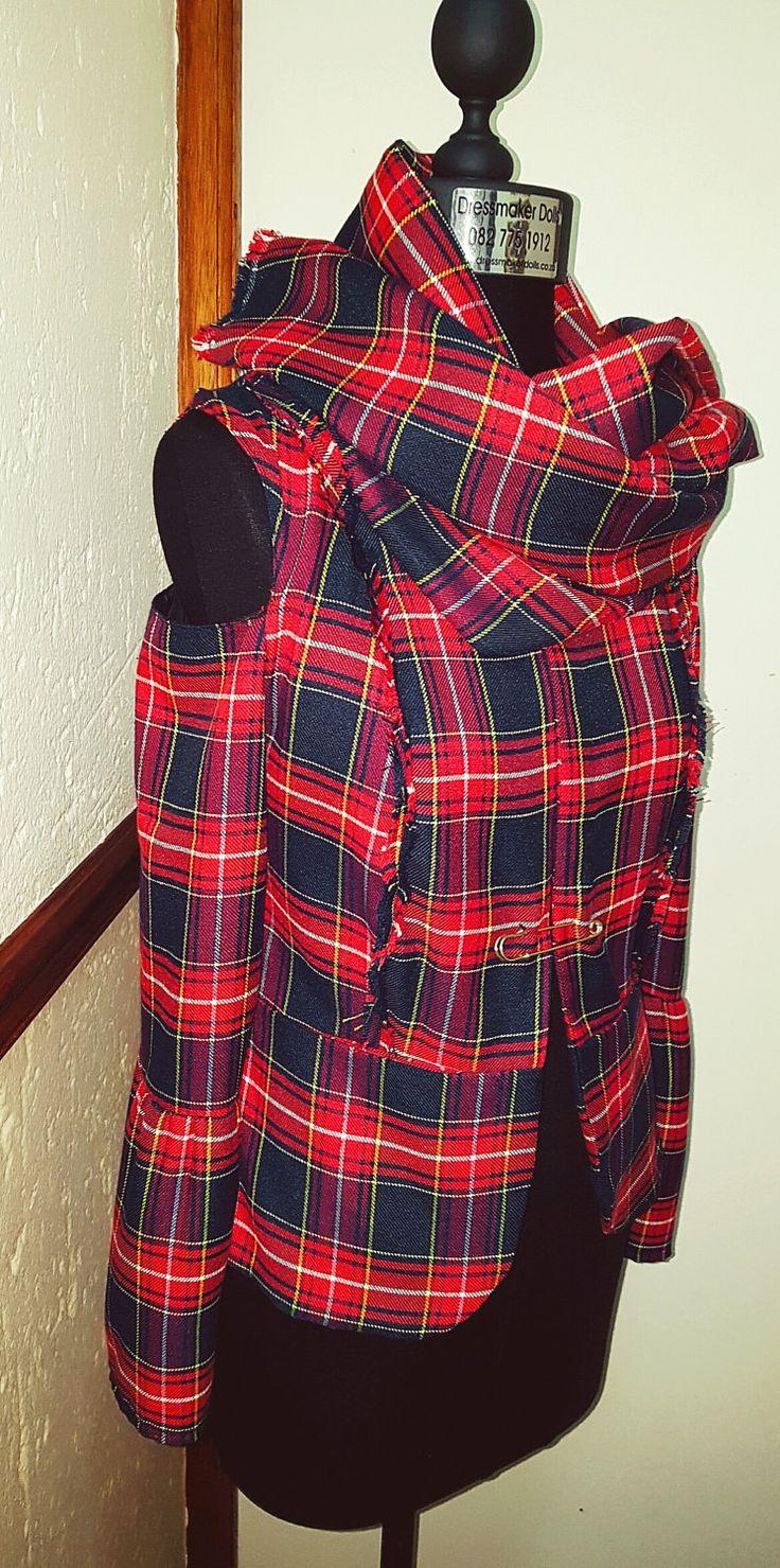 Tartan Cold Shoulder Blazer by BetrendByAdele on Etsy