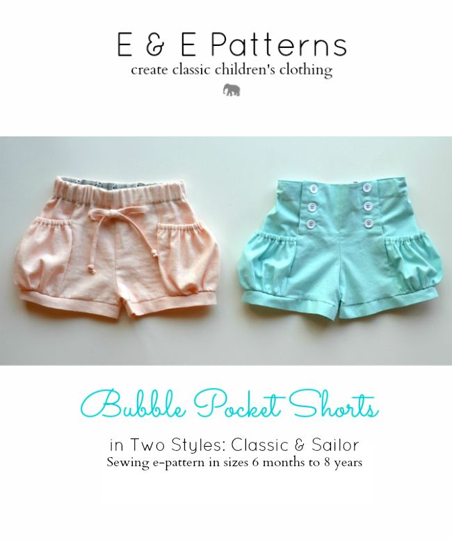 47 best Baby kids shorts pants sewing patterns images on Pinterest ...