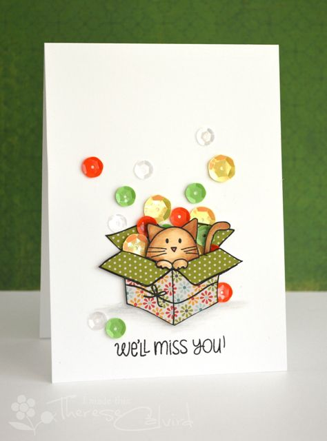 107 best miss you goodbye card ideas images on pinterest going lostinpaper miss you cat sequin card more m4hsunfo