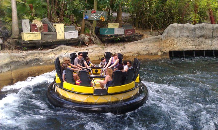 Bush Gardens in Tampa Florida!!! I have never laughed at Kara so hard than the time we we're on this ride! You would have thought it was the end of the world by her screams! LOL :) So much fun!!!
