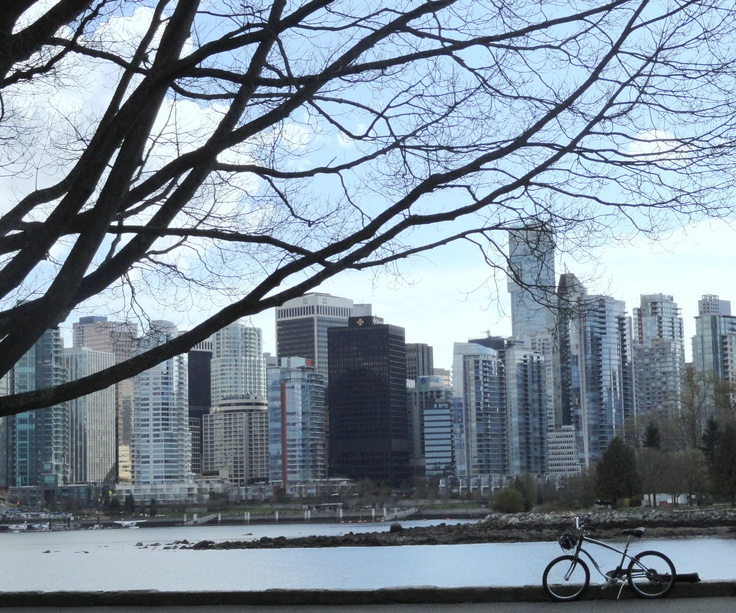 Vancouver Skyline viewed from Stanley Park