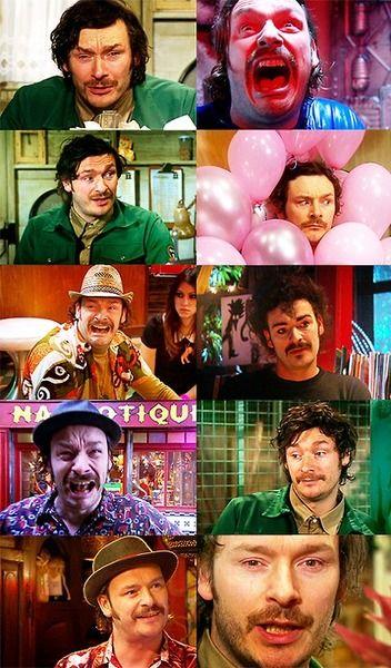 The many faces of Howard Moon.