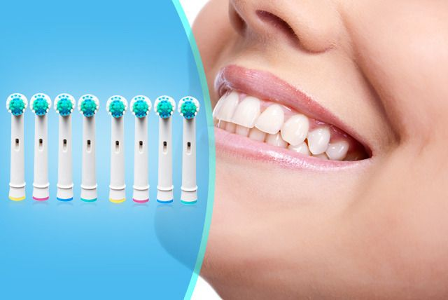 8 Oral-B Compatible Toothbrush Heads