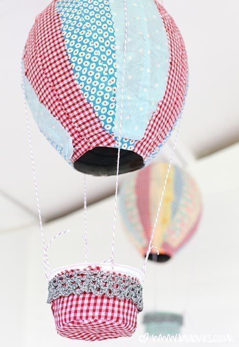You can make a balloon for decor in the technique of papier-mache needlework, ideas of creativity, with a child, decorating a children's home