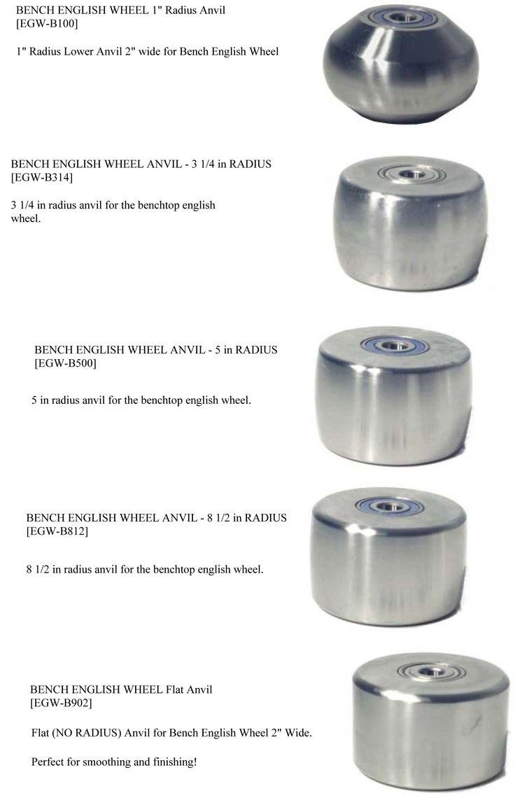 "Irvan-Smith, Inc. : Metal Ace F240 English Wheel Anvil - 24"" Radius 3X3 [EGW-F240] - $108.00"