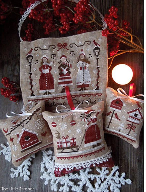 "LITTLE STITCHER SHOP ""Red Christmas-The Colors of Christmas Series"" 