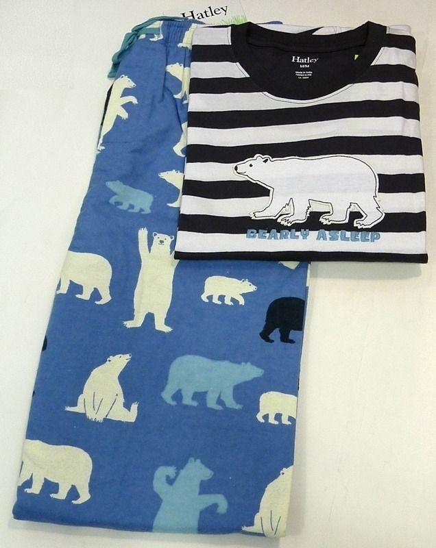 Pijama Polar Bear Hatley - 100% algodón - ENVÍO 24/48h - Pijama de rayas en tono marino y blanco en 100% Algodón. Tu ropa interior masculina en Varela Íntimo. #hatley #pijamas #menswear #mensunderwear #ropainterior #modahombre