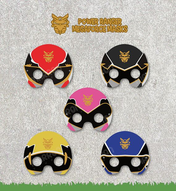 Power Rangers Megaforce Inspired set Pink Red Yellow by elmarron, $6.20
