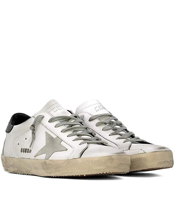 7a9538e6c352a Amazon.com | Golden Goose GCOMS590W55 Men's White Leather Sneakers ...
