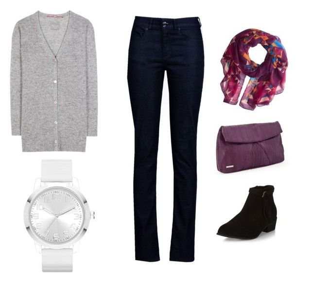 """""""Untitled #9"""" by traceyposhbird on Polyvore featuring Armani Jeans, Heidi Mottram, 81hours and Jules Smith"""
