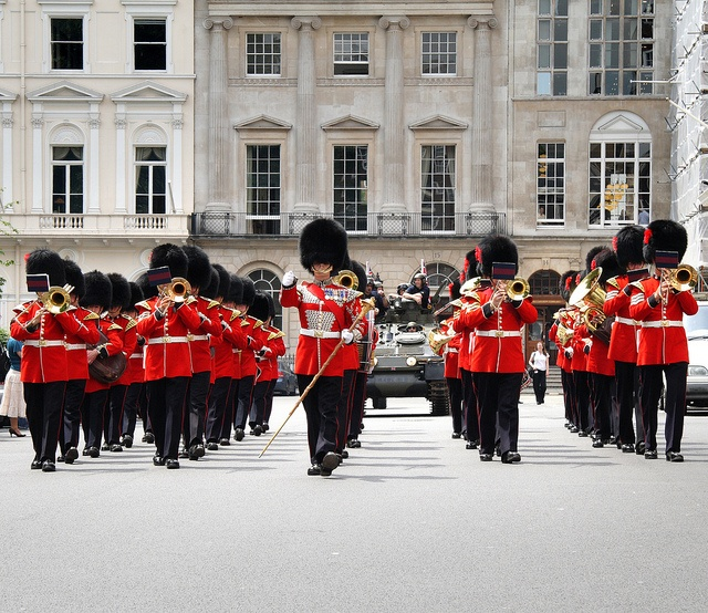 Marching Soldiers in London