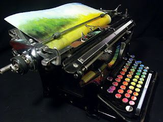 Studio E: Introducing the Chromatic Typewriter by Tyree Callahan: Artists, Tyre Callahan, Beautiful Paintings, Chromat Typewriters, Color, Magic Art, Vintage Typewriters, Ink Pads, Art Pieces