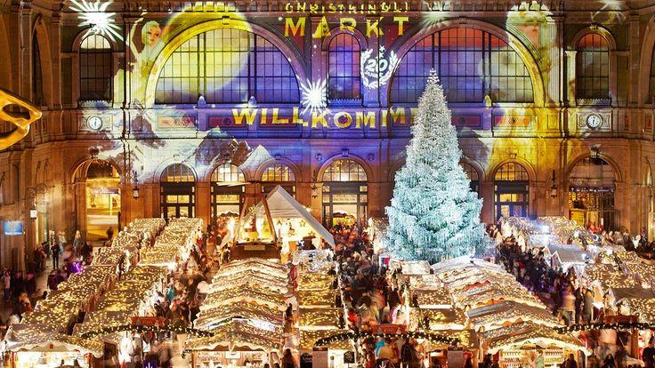 Christkindlimarkt   Zürich (Wetterfest - im Hauptbahnhof. Einer der grössten Indoor-Weihnachtsmärkte Europas. Besonders: der grosse Weihnachtsbaum. 20.-24.12)