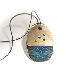 Unique necklace by wood & metal
