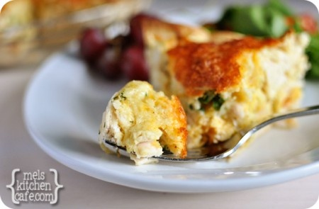 Cheesy Chicken Quesadilla Pie ~ Note: This dish is extremely mild in spiciness. If you want to kick it up a notch, consider adding a can of green chiles or chopped, jarred pickled jalapenos.