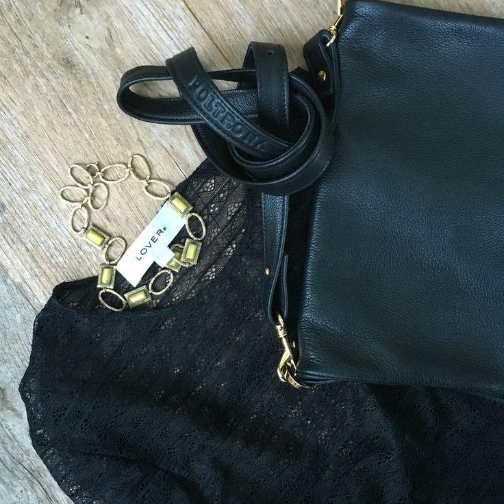 Lou in beautiful Black Italian leather