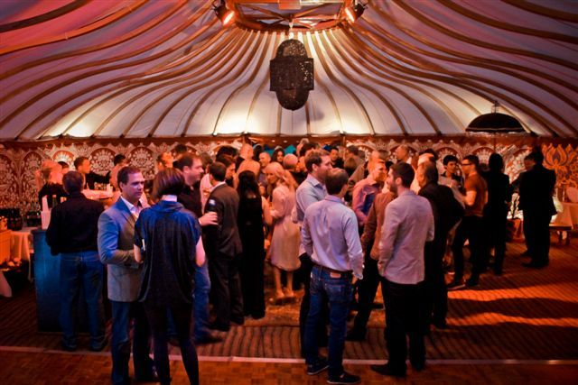 Party time within one of LPM Bohemia's Mini Orangery tents.