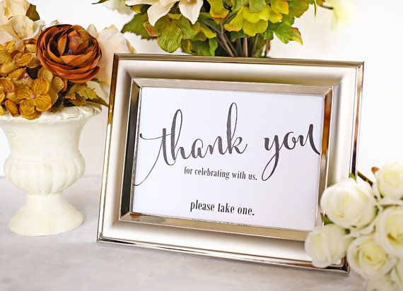 Thank You For Celebrating With Us Favor Table Sign By I Do