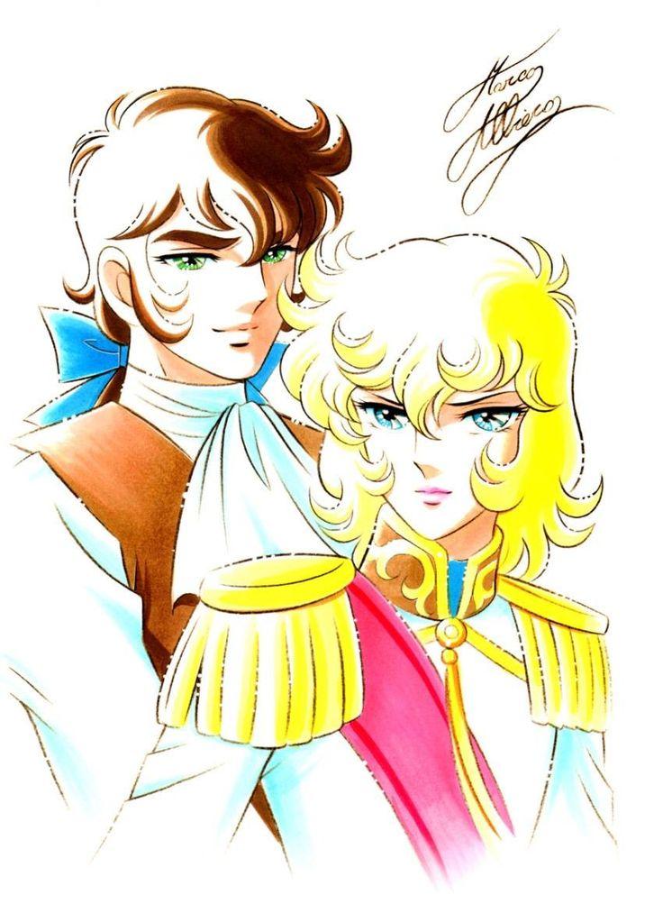 Great fan art of Versailles ni Bara Michi Himeno Shingo Araki style