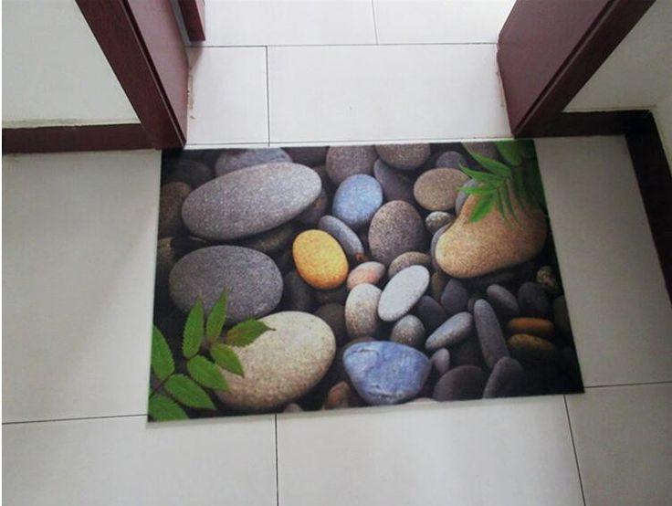 Из натуральной замши галька ковровое покрытие 3 D печать двери коврик в передней части дверной проем прихожей не маты ковру купить на AliExpress