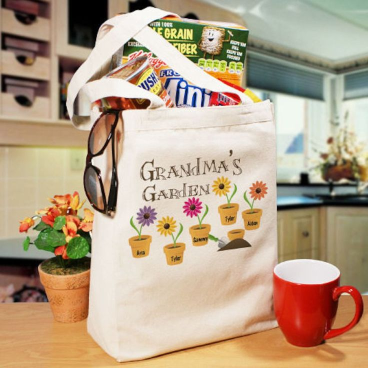 Personalized Grandmau0027s Garden Tote Bag   Gifts Happen Here
