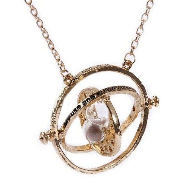 Harry Potter Necklace Time Turner Hermione Granger Hourglass Pendant... ($4.50) ❤ liked on Polyvore featuring jewelry, necklaces, harry potter, womens jewellery, necklaces & pendants, cross necklace, pendant jewelry and pendants & necklaces