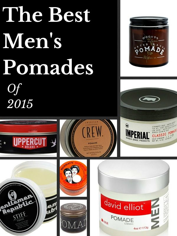 The Best Men's Pomades-There are a lot of pomades out there and many of them damage your hair.  These ones don't.