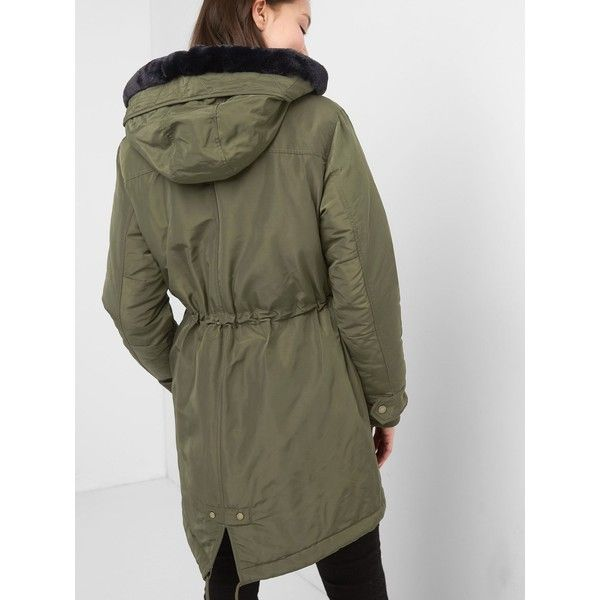 PrimaLoft faux-fur parka (8.360 RUB) ❤ liked on Polyvore featuring outerwear, coats, faux fur parka coat, parka coat, fake fur coat, faux fur coat and faux fur parka