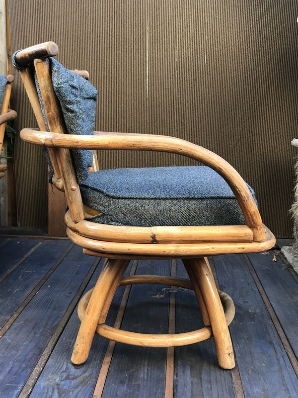 Vintage Bamboo Swivel Patio Chairs For Sale In Santa Barbara Ca Offerup Used Furniture For Sale Chairs For Sale Furniture