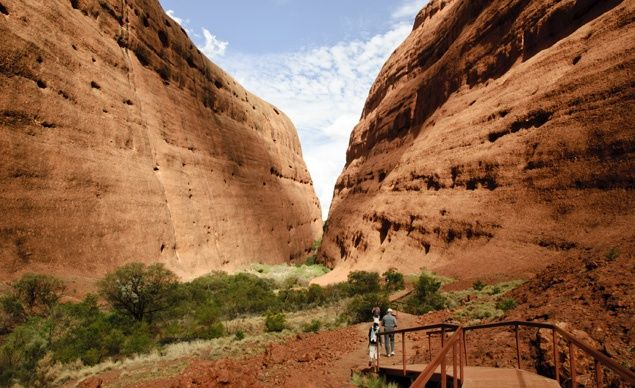 Uluru-Kata Tjuta in Australia is a sacred site to the Anangu people of the Pitjantjatjara Aboriginal tribe. (From: Photos: Beautiful Sacred Places Around the World)