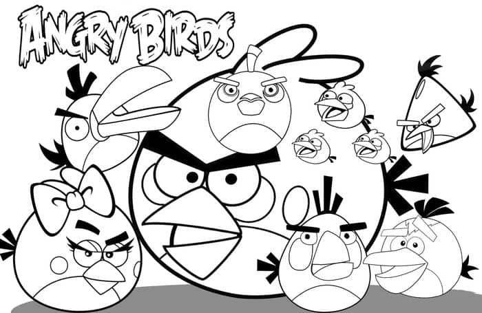 Angry Bird Coloring Pages Pdf 1 In 2020 Bird Coloring Pages Coloring Books Space Coloring Pages