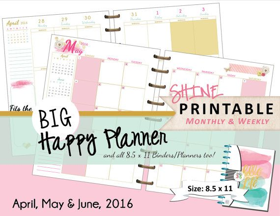 Happy Planner Calendar Printables : Best images about happy planner on pinterest