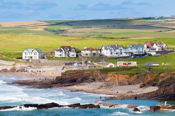 Crooklets Beach, Bude, North Cornwall, England, UK.  Popular with our guests.