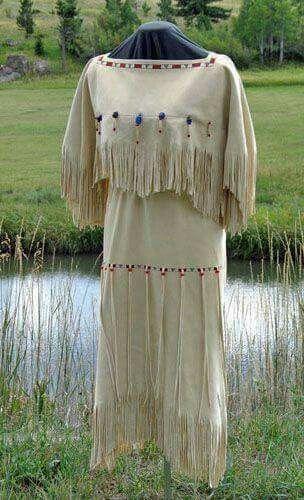 native  buckskin  wedding  dress