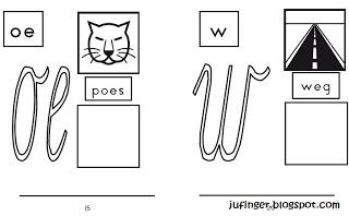 Juf Inger: letterkleurboek