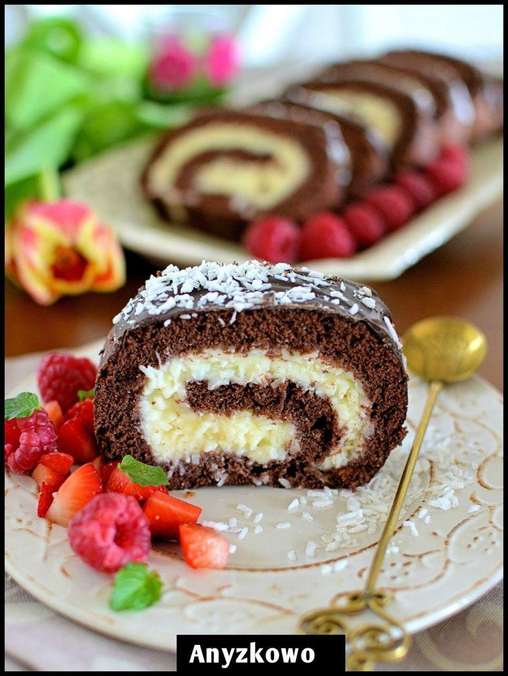 Rolada Bounty (PLUS kilka innych do proboanio ciast) | Anyżkowo: Wyniki wyszukiwania: kokos