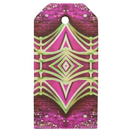 Psychedelic Festival Rave Wooden Gift Tags