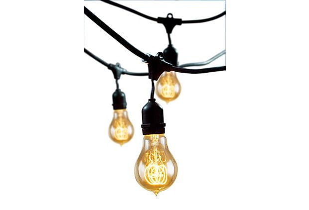 Nostalgic Outdoor String Lights : Nostalgic Outdoor String Lights, Black