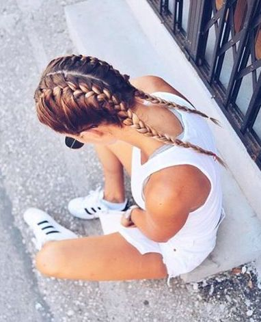 all white + #adidas