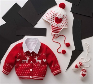 cute baby knit sweater, cardigan, jacket and hat intarsia