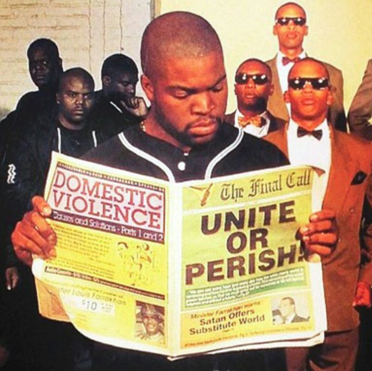 Ice Cube, Lynch Mob & the Fruit of the Nation of Islam. This picture is powerful and speaks many volumes.