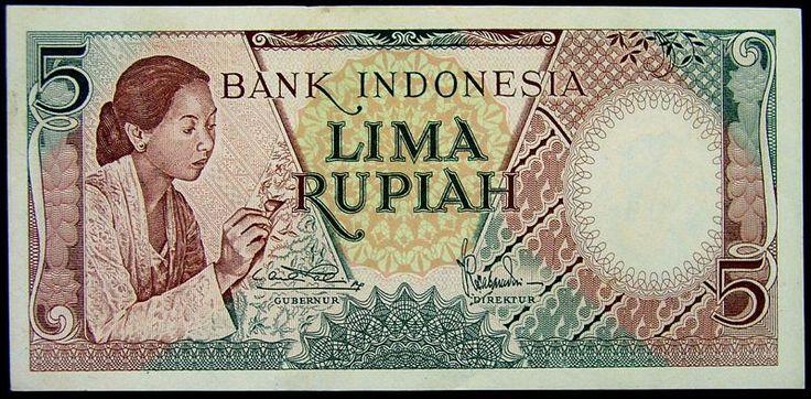 5 rupiah tahun 1952